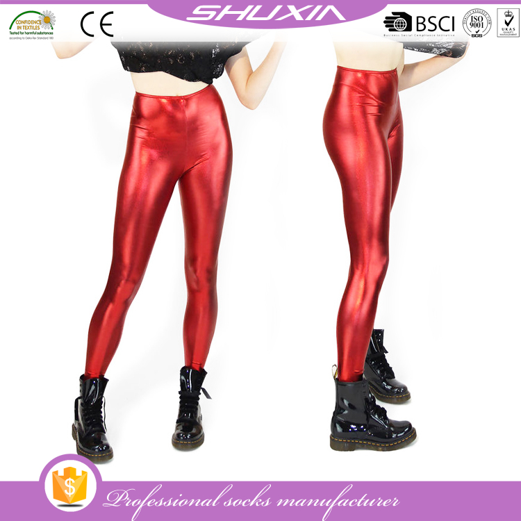 SX-60401 shiny lycra spandex leggings