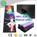 2017 wholesale anti slip organic natural rubber custom digital printed mat for yoga round eco black yoga matt