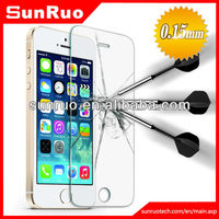 2013 newest 0.15mm ultra thin 9H strong toughness tempered glass screen protection for iphone5/5s,China Manufaturer, OEM