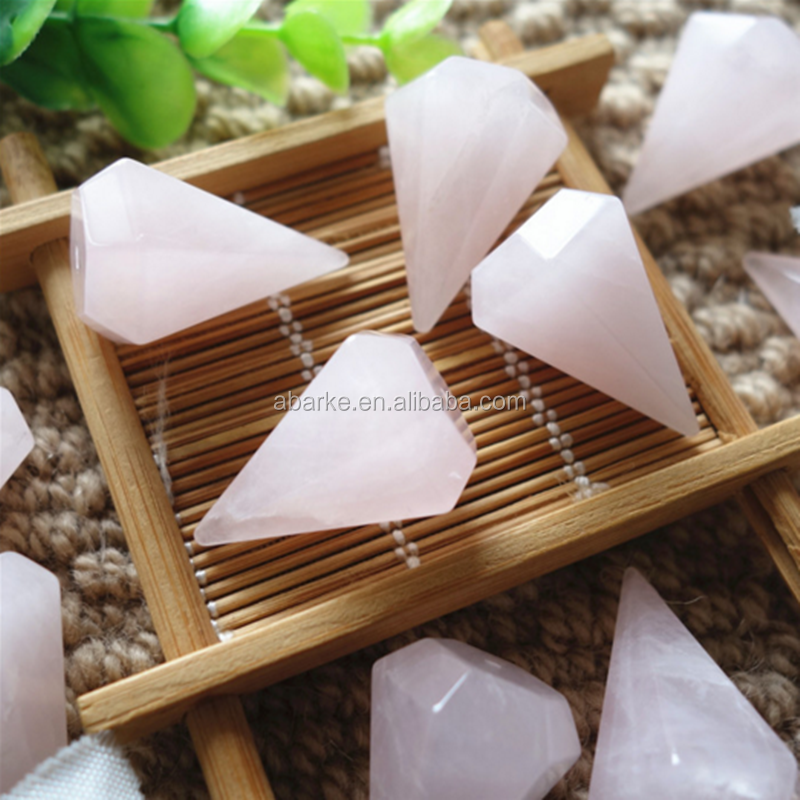 Rose Quartz Necklace Pendant Crystal <strong>Point</strong> Stone Pendant