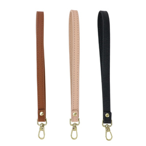 genuine leather purse handle strap bag accessories wristlet with mental clip