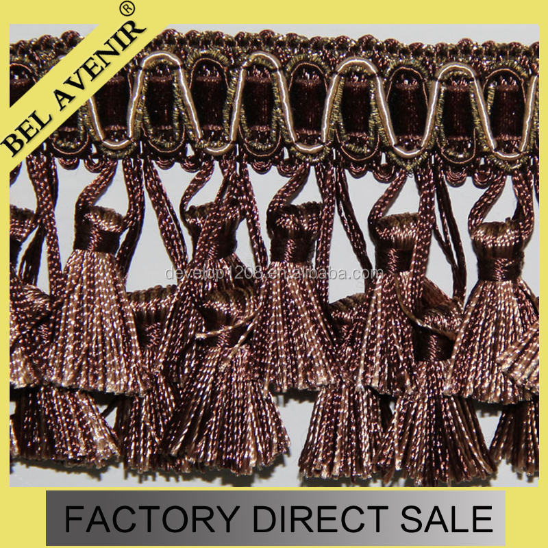 Curtain Hanging Handmade Beaded Tassel Fringe Trimming For Crutain leather sofa with wood trim leather fringe trim fringe for