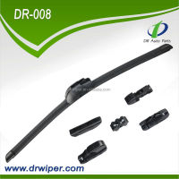 Natural rubber universal multifunction frameless wiper linkage assembly