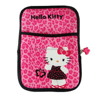 Hello kitty Printed Design neoprene laptop sleeve bag with zipper