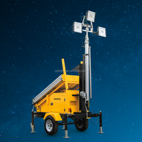 2 Years Warranty IP65 Portable Electric Construction Light Towers Led Mobile Solar Light Tower