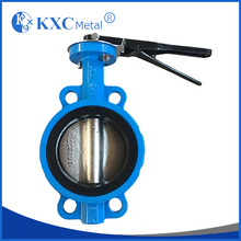 wholesale wafer EPDM soft seal butterfly valve with handle lever
