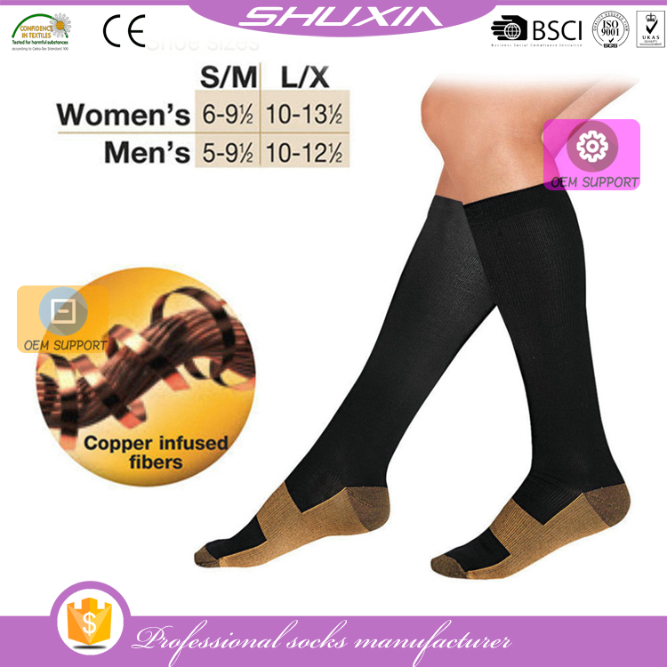 SX-1638 copper infused athletic compression socks