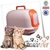 2015 Pet Product plastic closed cat litter box for pine cat litter