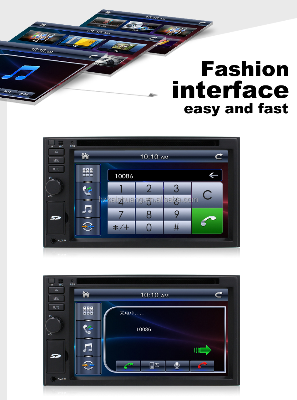 2 din Universal Car Radio DVD with Bluetooth/ USB/ SD 6.2inch Touch SCreen NO GPS