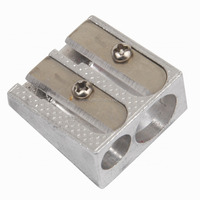 Double Hole Aluminium Pencil Sharpener
