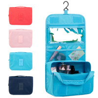 Multicolour promotional waterproof makeup bag travel hanging women toilet toiletry bag
