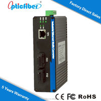 10/100M Unmanaged Industrial Fiber Media Converter OP-GYF102B 20KM Electron Optical a.c. Contactor