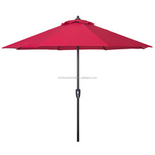 outdoor 9ft red polyester canopy wind resistant garden patio umbrella