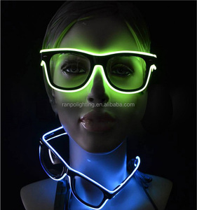 Multi Color LED EL Wire Sunglasses AA Battery Powered Inverter EL lights