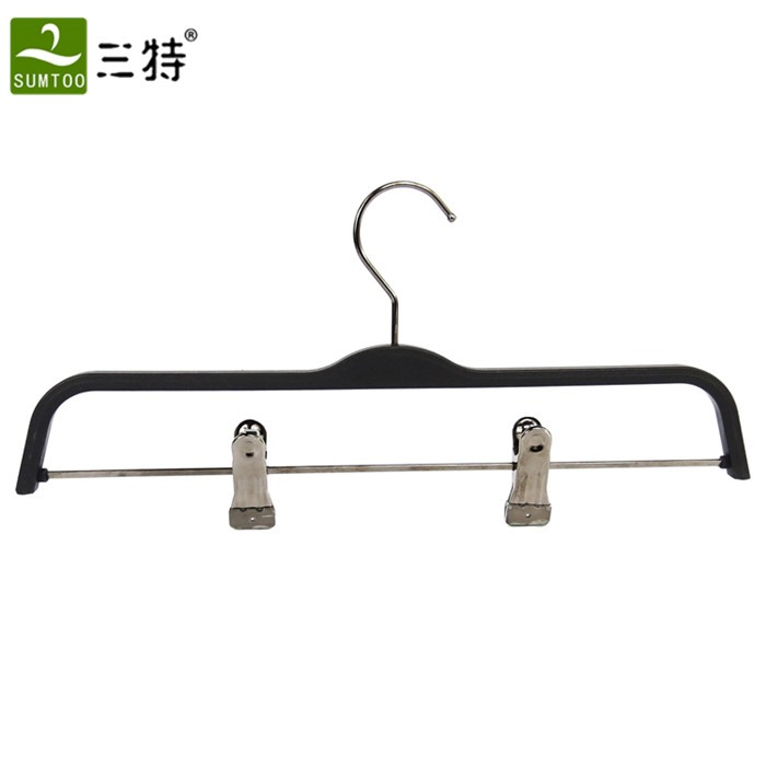 zara type retail display black plastic hanger for shop