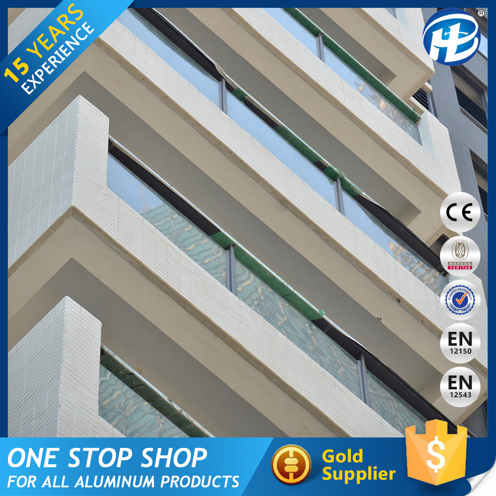 Economical Partition Walls Reflective Professional Exposed Aluminum Frame Opaque Glass Curtain Wall