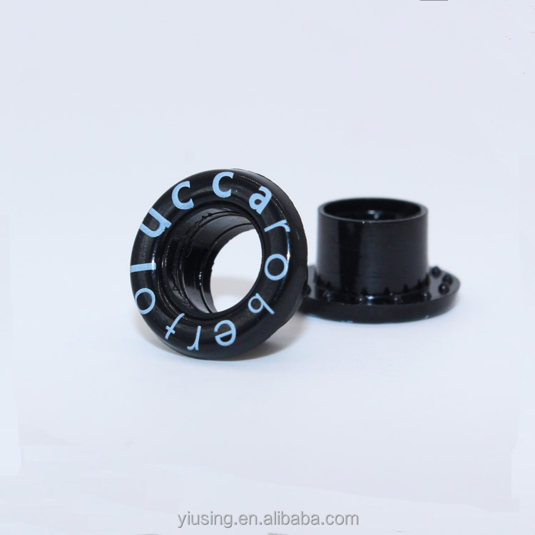 China manufacturer silkscreen logo custom plastic eyelet