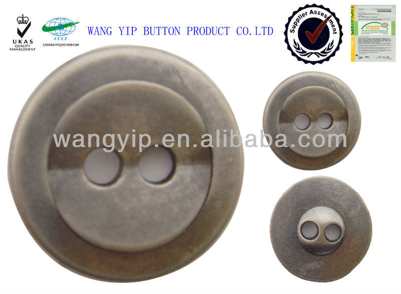 17.5mm chiness factory fold metal 2 hole button