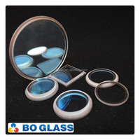 Customer lighting appliance extra white floated step glass with high quality silkscreen