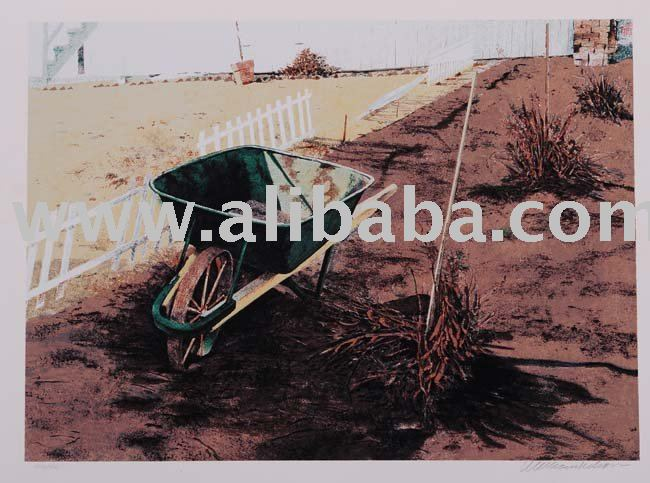 "William Nelson ""The Wheelbarrow"" Unframed Limited Edition Original Signed Serigraph Artwork"