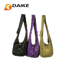 Wholesale customized OEM 100% reusable cotton fabric sling bag