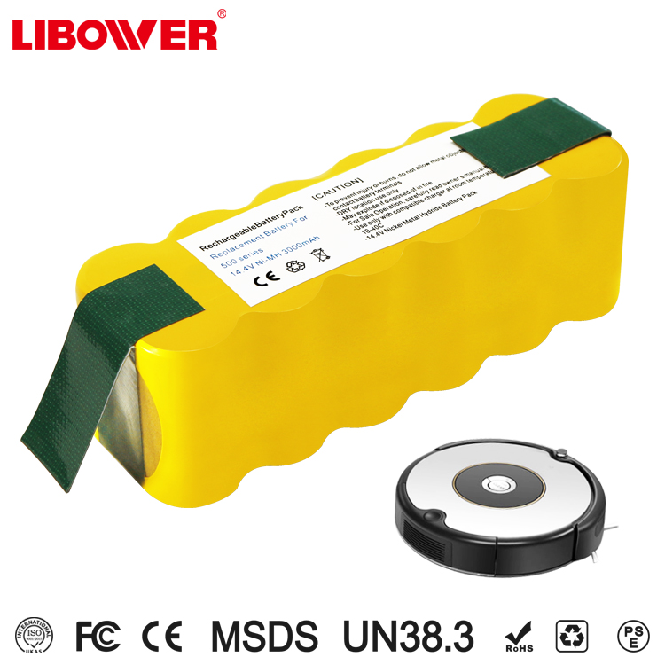 Libower 14.4V 3000mAh Ni-MH vacuum cleaner rechargeable battery pack replacement for iRobot Roomba m Cleaner