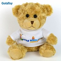 Custom plush stuffed soft toy teddy bear with shirt hoodys