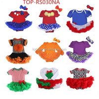 children clothes girls,fashionable style remake fluffy ruffle skirted pom pom rompers for new born baby gift boutique