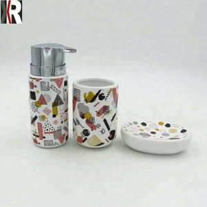 The popular ceramic bath accessory 3pcs bathroom set