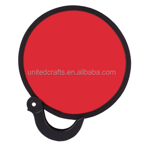 blank promotional polyester nylon folding frisbee fan