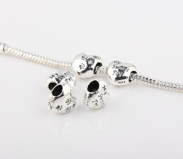 latest fashion style china wholesale allloy metal engrave heart cheap bead