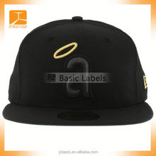 manufacturer 5 panel leather flat brim kids baby infant customized popular baseball cap/hats 3D embroidery hat