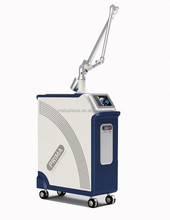 1064 532 Medical Q switch nd yag laser tattoo removal machine with Intelligent alarm system