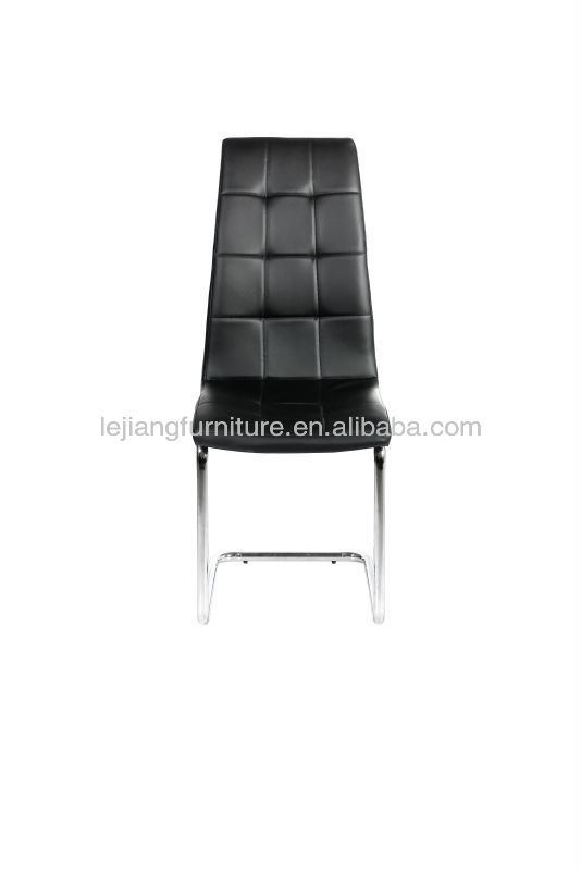 new design modern chrome bent wood PU dining chair