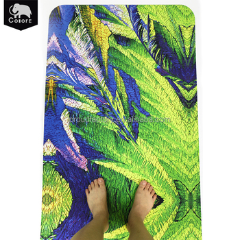 High quality non-slip nature rubber gym floor exercise yoga mats printed folding