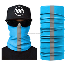 Headband Sport Motorcycle Mask Neck Warmer Hat In Wind Custom Tubular Sublimation Printed Runing Reflective Bandana