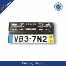 European Car Plastic License Plate Frame