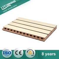 sound absorption board soundproofing wooden grooved acoustic panel