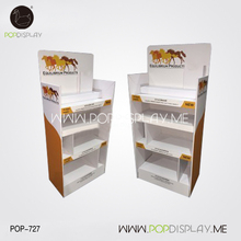 Trade Show Boutique Cardboard Rack Dividers Shopping Mall Advertising Supermarket Showroom Display Shelf