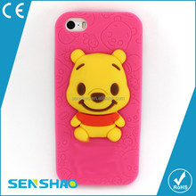 Cheap bear silicone Case For iphone 6plus Case Colorful for mobile phone oem