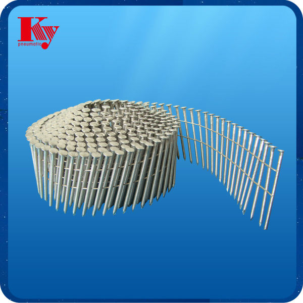 16 dgree screw shank wire coil nails for pallet 2.5mm * 57mm