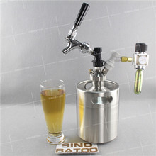 Nitrogen coffee keg with dispenser and nitrogen cartridge