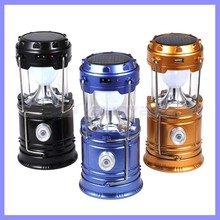 Classic style 6 LEDs Rechargeable Hand Collapsible Solar Camping Lantern