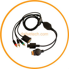 for Wii PS3 to PC TV Monitor Display Game HDTV AV Audio Video Component VGA Cable from dailyetech