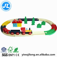 dazzle colour wooden rail train set of fancy educational toys wooden Thomas