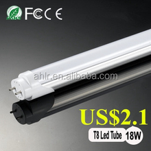 5 years warranty DLC ETL certificated t8 led tube 200lm/w 18 watt 4 feet led bulb