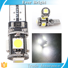 Factory cheap price auto t10 led canbus bulb 5SMD-black led smd 5050