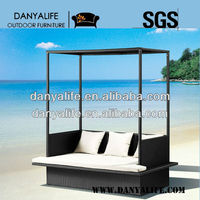 DYBED-D1210,Rattan Outdoor Day Bed, Garden Patio Sun Bed,Beach Leisure Bed,Wicker Swimming Pool Lounger,Cane BalconySofa Bed