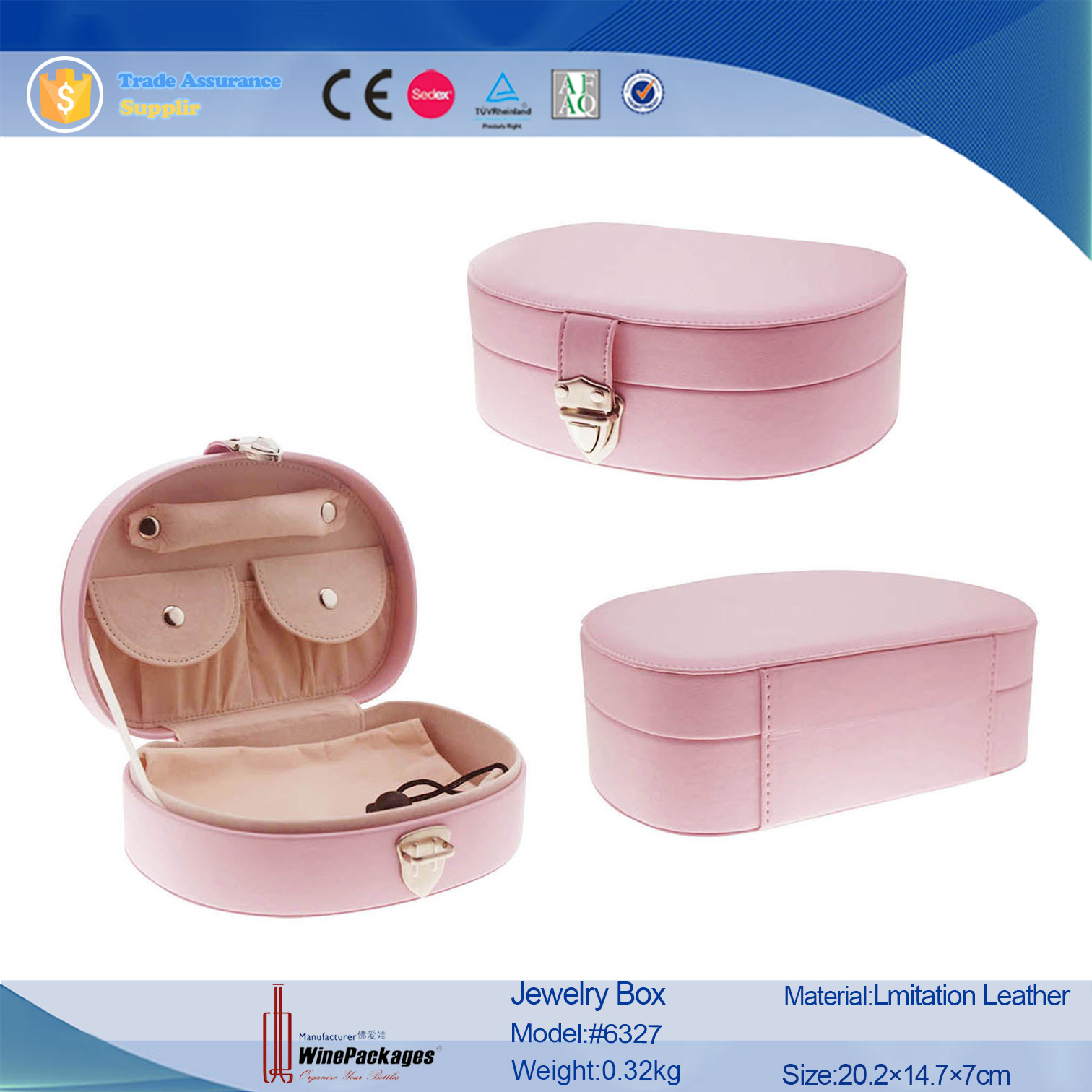 Portable elegant girls gift treasures jewelry boxes