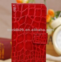 2013 New Arrival Crocodile PU Leather Wallet Case for iPhone 5C